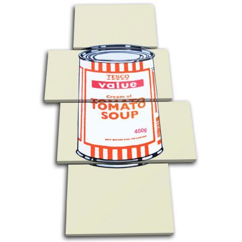 Tesco Soup Can Banksy Painting - 13-1597(00B)-MP04-PO